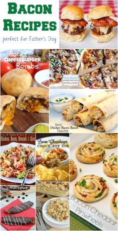 Bacon Recipes - a delicious collection for party food, appetizers, game day recipes, Father's Day food and more!