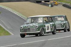 British Racing Green Mini Cooper at Brands Hatch Mini Festival, June 2012