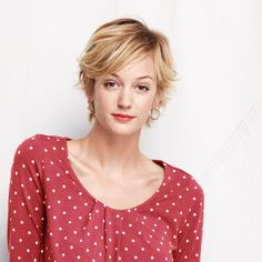 Grey Hair Old, Polka Dot Top, Hair Ideas, Sleeves, Pattern, Cotton, Tops, Fashion, Moda