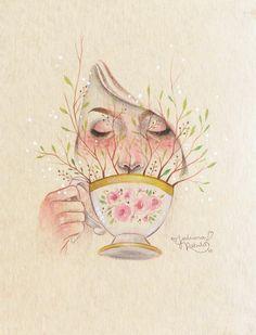 Na delicadeza de pinceladas sutis, preenchidas por cores e uma sensibilidade densa e afinada, a arte de Juliana Rabelo toca o coração sem o mínimo esforço.