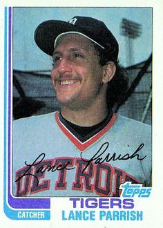 Lance Parrish 1982 Catcher - Detroit Tigers  Card Number: 535
