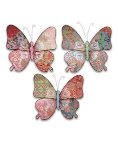 Butterfly Wall Art Set by Melrose #zulily #zulilyfinds