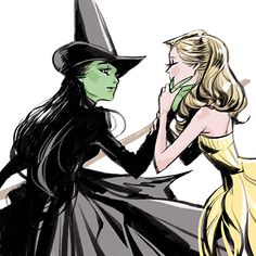 Wicked's Defying Gravity Wicked Musical, Wicked Witch, Broadway Wicked, Broadway Theatre, Musical Theatre, Elphaba And Glinda, The Witches Of Oz, Defying Gravity, Yuri