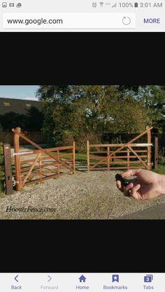 Five Bar Gates - Hoover Fence Co. - Ornamental Wooden Gates for . Driveway Entrance Landscaping, Driveway Design, Driveway Gate, Fence Design, Wood Fence Gates, Wooden Gates, Fencing, Farm Gate, Farm Fence