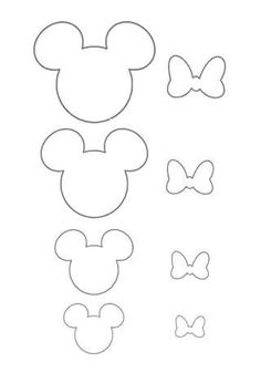 DIY bow making - mic Minnie or Mickey MouseCheer Bow Template Printable Best Pin by butterflies Mouse Crafts, Felt Crafts, Disney Diy, Disney Crafts, Decoration Minnie, Theme Mickey, Bow Template, Templates, Mickey Minnie Mouse