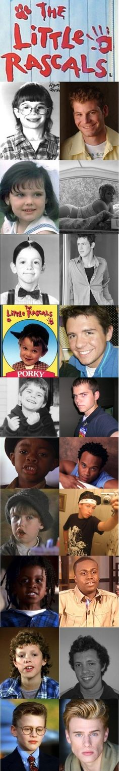 The Little Rascals - Then and now. One is wearing a walmart employee shirt...