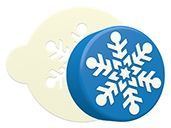 Snowflake 7 Sandwich Cookie Stencil