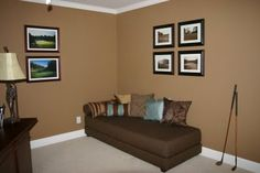 Wall paint color: New Chestnut by Behr (With flash)