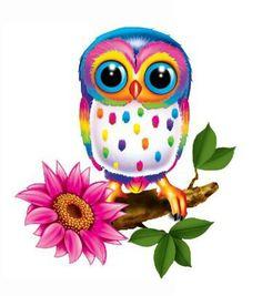 Super cute Lisa Frank like owl. Owl Clip Art, Owl Art, Lisa Frank, Owl Cartoon, Owl Pictures, Owl Always Love You, Beautiful Owl, Owl Crafts, Wise Owl