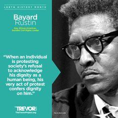 We honor folks who fought for #LGBTQ and civil rights, like Bayard Rustin. #blacklivesmatter #LGBTQHistoryMonth