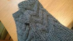 「編み図up!スマホもらくらく!ハンドウォーマー」編み図アップしました!スマホをパッと使える指なしのハンドウォーマー!すぐできます!![材料]極太(使用棒針8~10号)