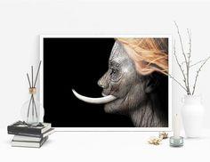Ivory  Printable Art Naturemorphosis Face of a von naturemorphosis