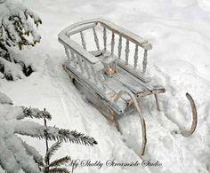 My Shabby Streamside Studio ~Winter Wonderland~ Winter Szenen, I Love Winter, Winter Magic, Winter Season, Winter Christmas, French Christmas, Winter White, Antique Christmas, Primitive Christmas