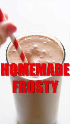 With this Copycat Wendy's® Frosty you can finally recreate your favorite chocolate frosty in the comfort of your own home with just a few easy ingredients. Wendy's Chocolate Frosty Recipe, Copycat Wendy's Frosty Recipe, Wendys Frosty Recipe, Copycat Recipes, Chocolate Recipes, Vanilla Milkshake, Chocolate Milkshake, Chocolate Shake, Coffee Recipes