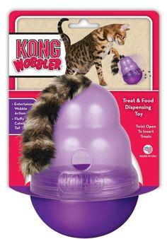 Este juguete es ideal para entretener a tu gato. Lo estimulará a hacer ejercicio mientras le proporciona alimento. Es un dispensador de comi...