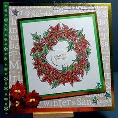 Delicious Doodles 'Poinsettia Wreath'