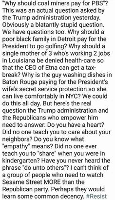 """""""...Why should a poor black family in Detroit pay for the President to go golfing?..."""" #Trumpocalypse"""