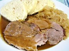 Slovak Recipes, Czech Recipes, Slow Cooker Recipes, Meat Recipes, Cooking Recipes, No Salt Recipes, Pork Tenderloin Recipes, Food 52, International Recipes