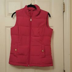 Pink zip up vest Charter club zip up vest never been worn before with tag still on Charter Club Other