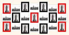 White, Black, Red 13x18 Frame Collage (Original)