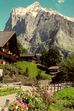Grindelwald is a village and municipality in the Interlaken-Oberhasli administrative district in the canton of Bern in Switzerland. Besides the village of Grindelwald, the municipality also includes the settlements of Alpiglen, Burglauenen, Grund, Itramen, Mühlebach, Schwendi, Tschingelberg and Wargistal.  Grindelwald village is located at 1,034 m (3,392 ft) above sea level in the Bernese Alps.