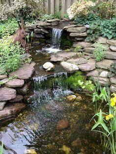 Garden ponds 533676624597170578 – Ponds backyard, Waterfalls backyard, Garden p… - Modern Pond Landscaping, Landscaping With Rocks, Pond Design, Landscape Design, Landscape Steps, Landscape Materials, Backyard Water Feature, Backyard Ponds, Backyard Waterfalls