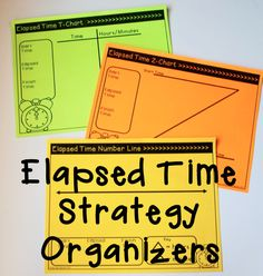 Elapsed Time Strategies and Graphic Organizers - students can start with the organizer and be gradually released to working the word problems on their own!