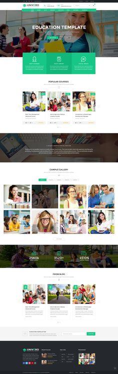 Univero - Education PSD Template by ninzio | ThemeForest