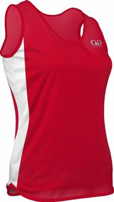 Style Ideal for running or for training, the Tricot-Tech Singlet is a sophisticated alternative to your basic running gear. The single ply Tricot Tech f Athletic Women, Athletic Tank Tops, Running Singlet, Side Panels, Red And White, Tee Shirts, Stuff To Buy, Game, Amazon