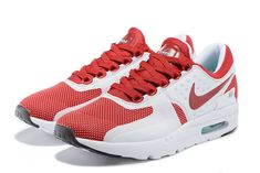low priced aacee af4af 2018 Fashion Men Nike Air Max Zero Sport Red White Crimson Best Sneakers,  Sneakers For