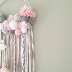 5 likes, 1 comments - Fb: vivi decoration ( « Decor Diy Best Pom Pom Crafts, Yarn Crafts, Diy And Crafts, Arts And Crafts, Diy Room Decor, Nursery Decor, Creation Deco, Pinterest Diy, Baby Shower Decorations