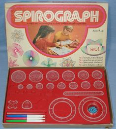 Oh my gosh. I miss my Spirograph. Raise your hand if you had one.