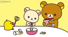 Baking with Rilakkuma!