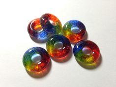 Rainbow Jewelry, #GayPride #LGBTJewelry, Rainbow Beads, Jewelry Supplies, Set of 6, Rainbow, Jewelry Designs, Pride Jewelry,  Jewelry Beads Beads by IntheShadeoftheSycamoreTree, $8.00 USD