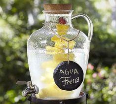 Jug Acrylic Drink Dispenser #potterybarn