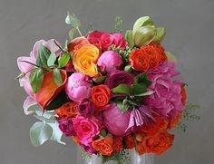 Bouquet Orange&fuschia
