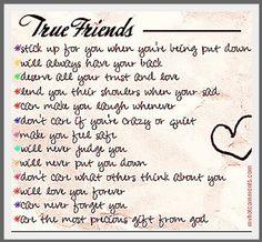 True friends....