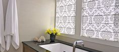 Modern Bathroom Window Curtains Roman Shades