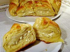 Authentic Tutmanik-Multi-layered Bread with Sirene (Bulgarian Feta Cheese)...