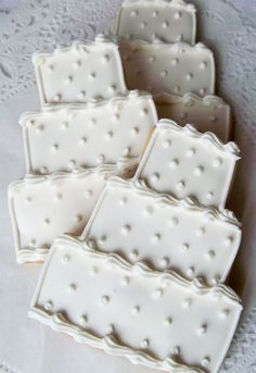 Swiss Dot Wedding Cake Cookie by LindasEdibleArt on Etsy, $36.00