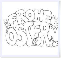 Ausmalbilder Frohe Ostern Kinder