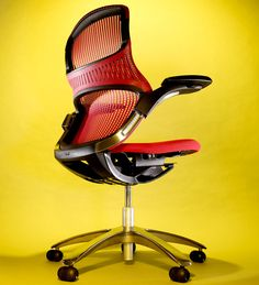 cool -n- ergonomic office chair. what a crazy looking chair!