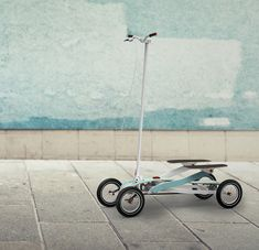 """""""step + scooter"""" it's perfect for stepping your way around the city ...  (lolz + interesting)"""