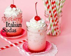 Raspberry Italian Cream Sodas
