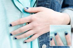 It's like a colorful, glittery French mani!  Easy to do and lots of fun