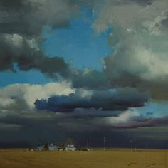 Landscapes - Zhaoming Wu - Protean, 12 x 12 Sky Painting, Painting & Drawing, Landscape Art, Landscape Paintings, Paintings I Love, Fine Art Gallery, Beautiful Artwork, Oeuvre D'art, Painting Inspiration