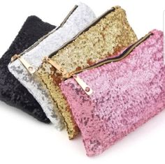 Womens Glitter Clutch, Handbag,Make-up bag, Sequin Cosmetic Bag #Unbranded #CLUTCHPURSEPOUCHClutchCosmeticBag