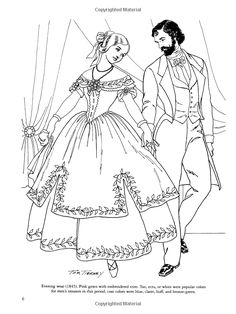 Victorian Fashions Coloring Book Dover Fashion Tom Tierney 0800759299171