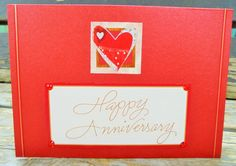 Ruby Anniversary handmade card FWB by RogueKissedCraft on Etsy Ruby Anniversary, Anniversary Cards, Love Heart, Etsy Store, Greeting Cards, Awesome, Unique Jewelry, Handmade Gifts, Crafts