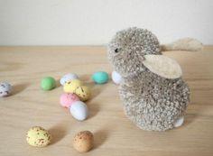 Comment fabriquer un lapin avec des pompons ?